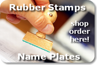rubber stamps, name plates - order here